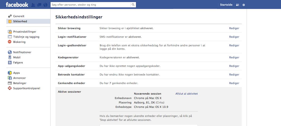 Sådan sikrer du din Facebook